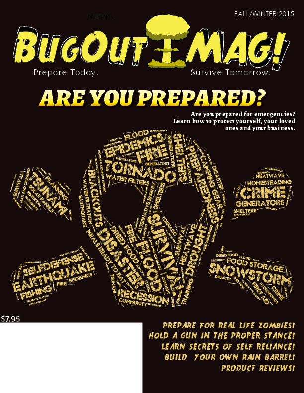 BugOut MAG! Fall 2015 cover
